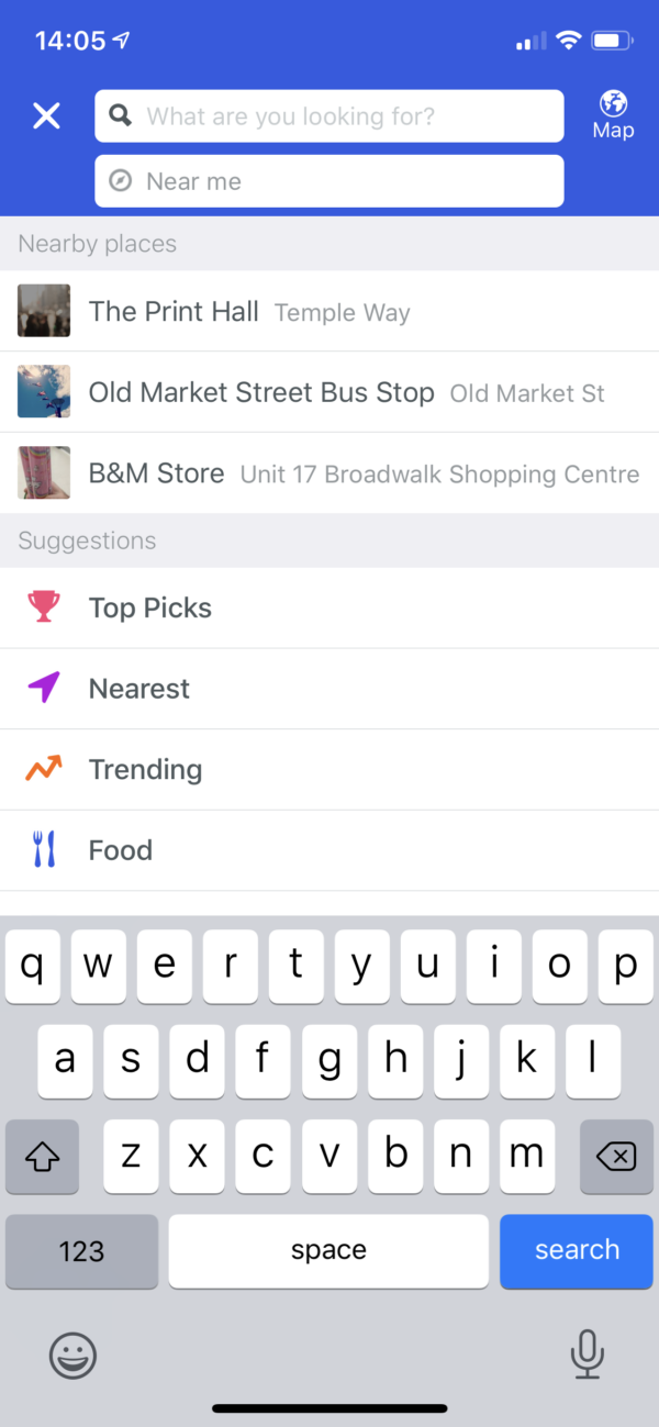 Foursquare Search screenshot