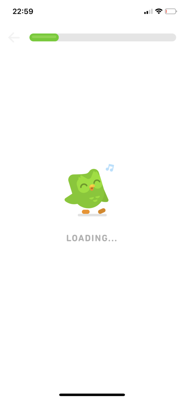 Duolingo Loading screenshot