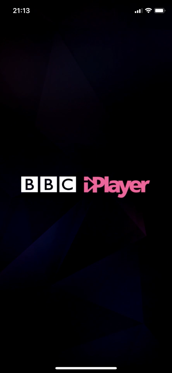 BBC iPlayer Splash screen screenshot