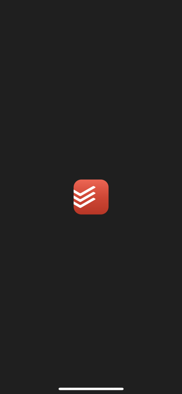 Todoist Splash screen screenshot