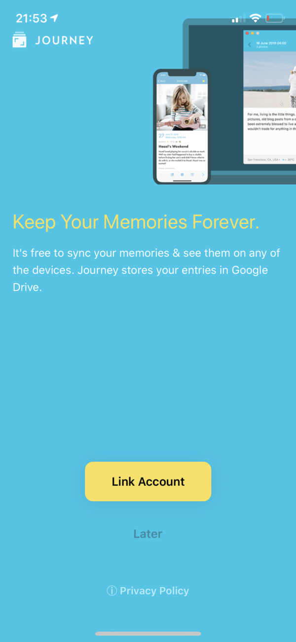 Journey Keep your memories forever screenshot