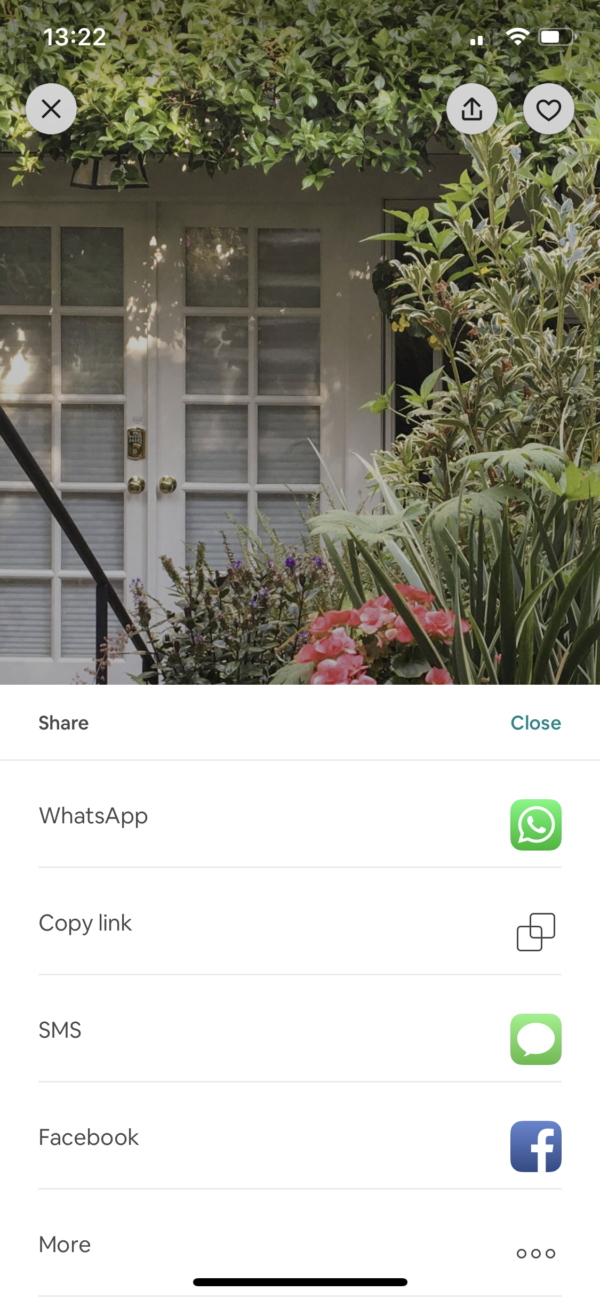Airbnb Share screenshot