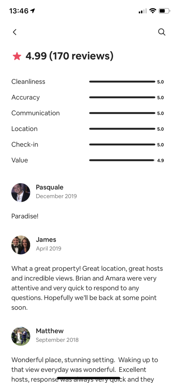 Airbnb Reviews screenshot