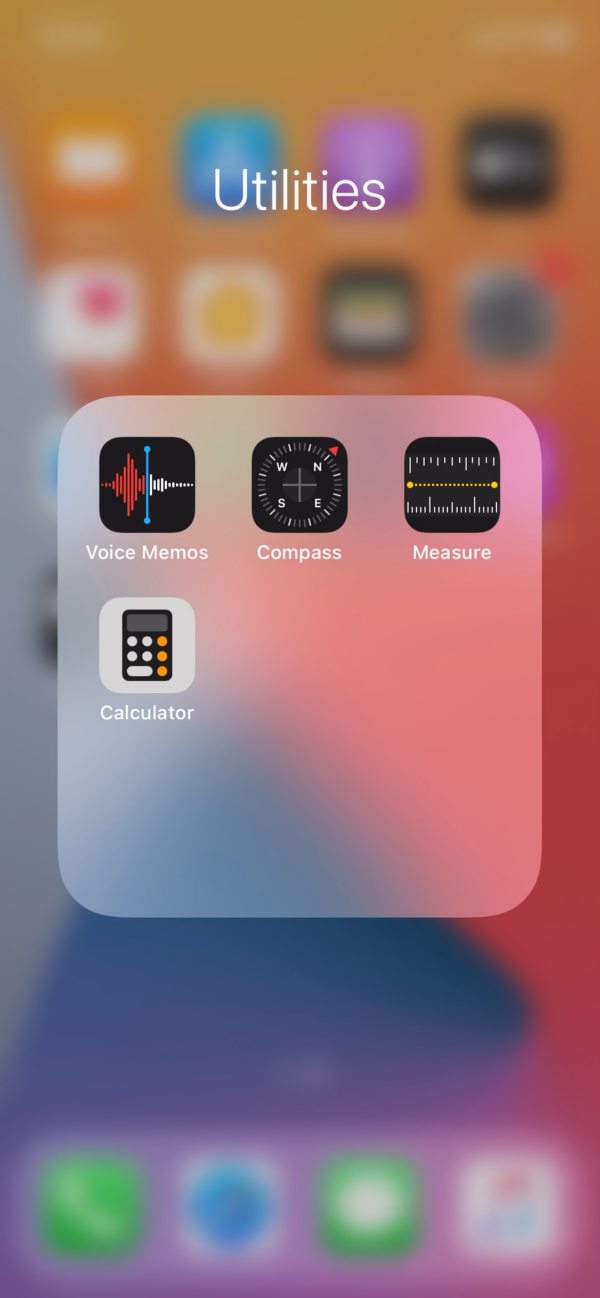 iOS 14 Folder screenshot