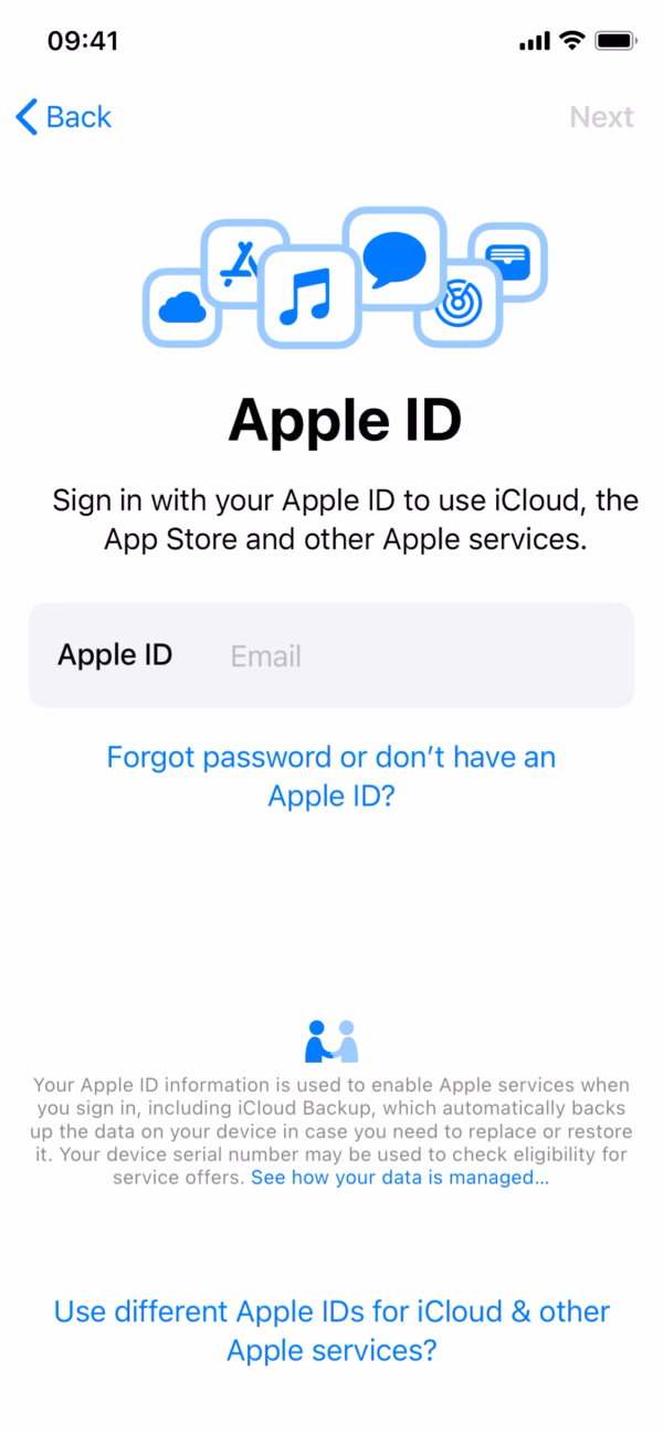 iOS 14 Apple ID screenshot
