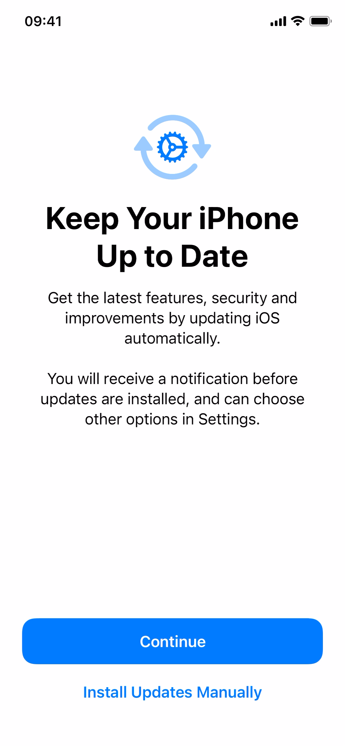 Keep your iPhone up to date screenshot