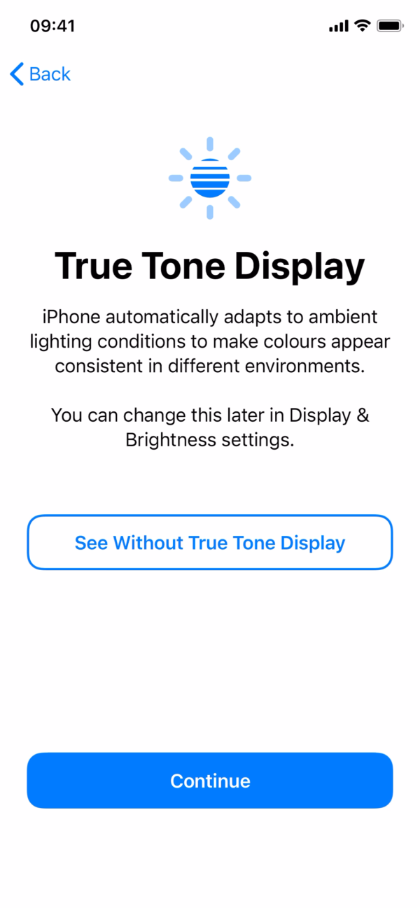 iOS 14 True Tone Display screenshot