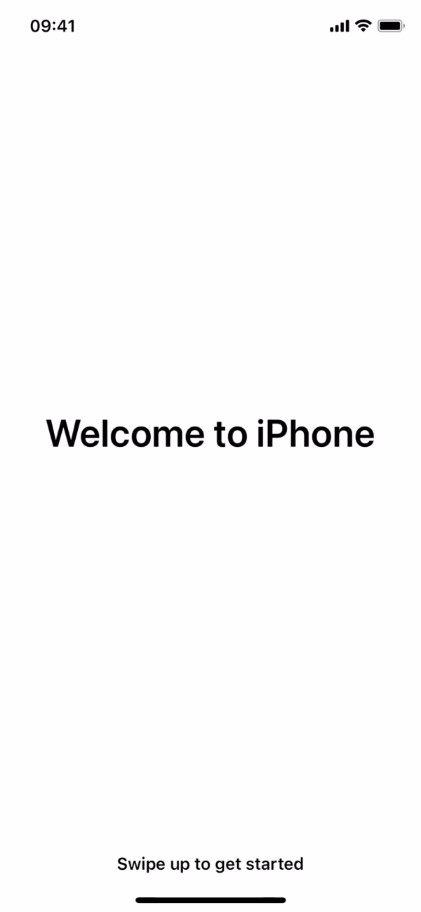 iOS 14 Welcome to iPhone screenshot