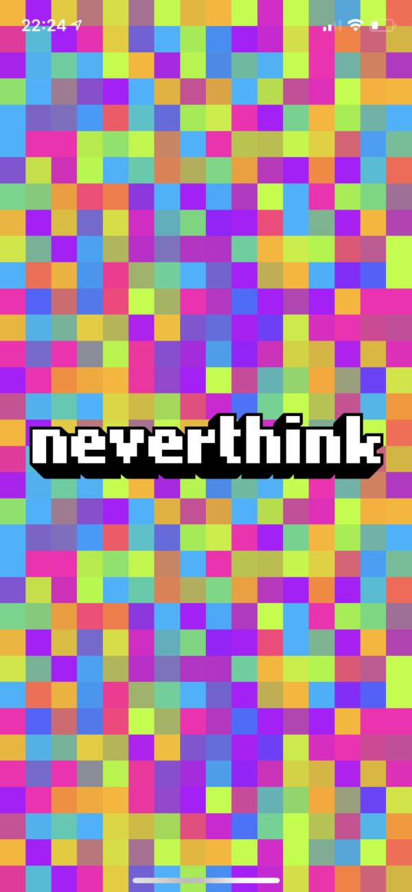 Neverthink Splash screen screenshot