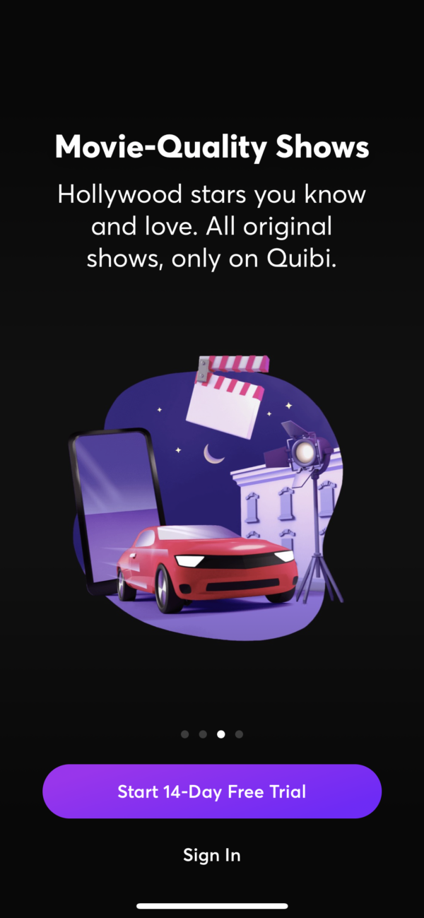 Quibi Movie-quality shows screenshot