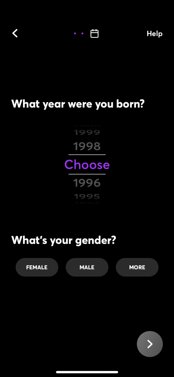 Quibi What year were you born? screenshot