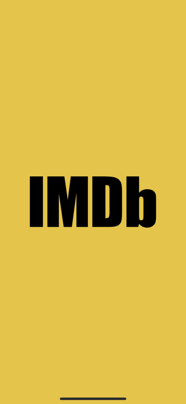 IMDB Splash screen screenshot
