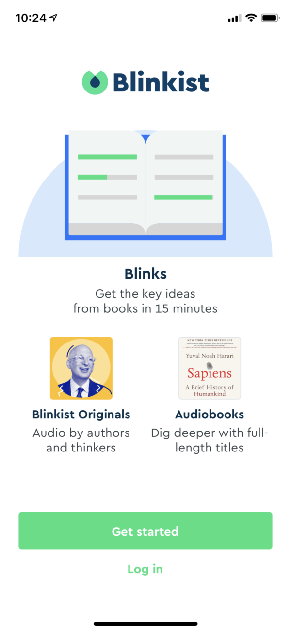 Blinkist Welcome screenshot