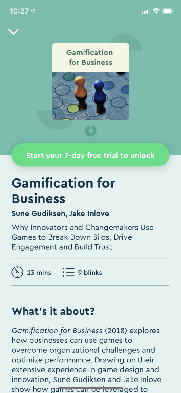 Blinkist Content detail screenshot