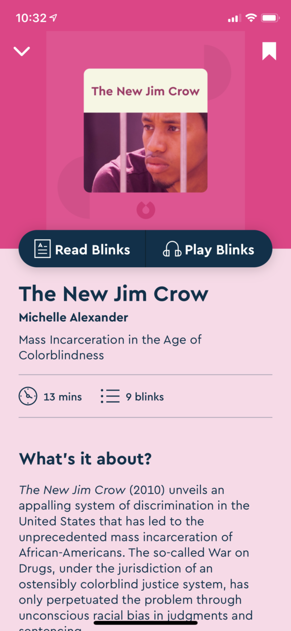 Blinkist Detail view screenshot
