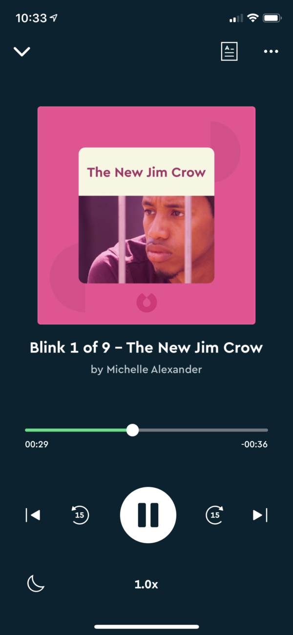 Blinkist Audio player screenshot