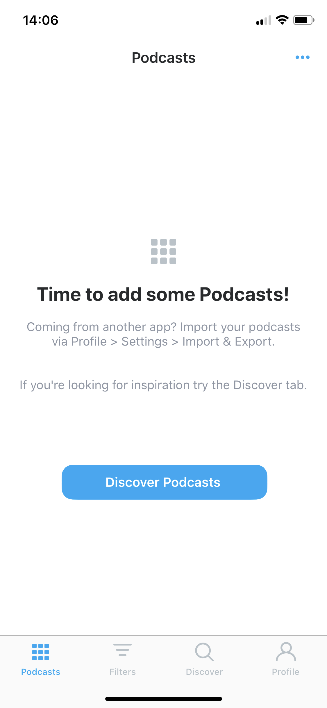 Time to add some podcasts! screenshot
