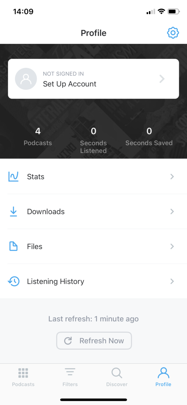 Pocket Casts Profile screenshot