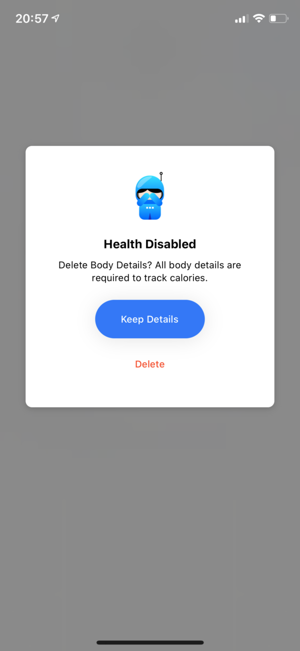 Seven Health disabled screenshot