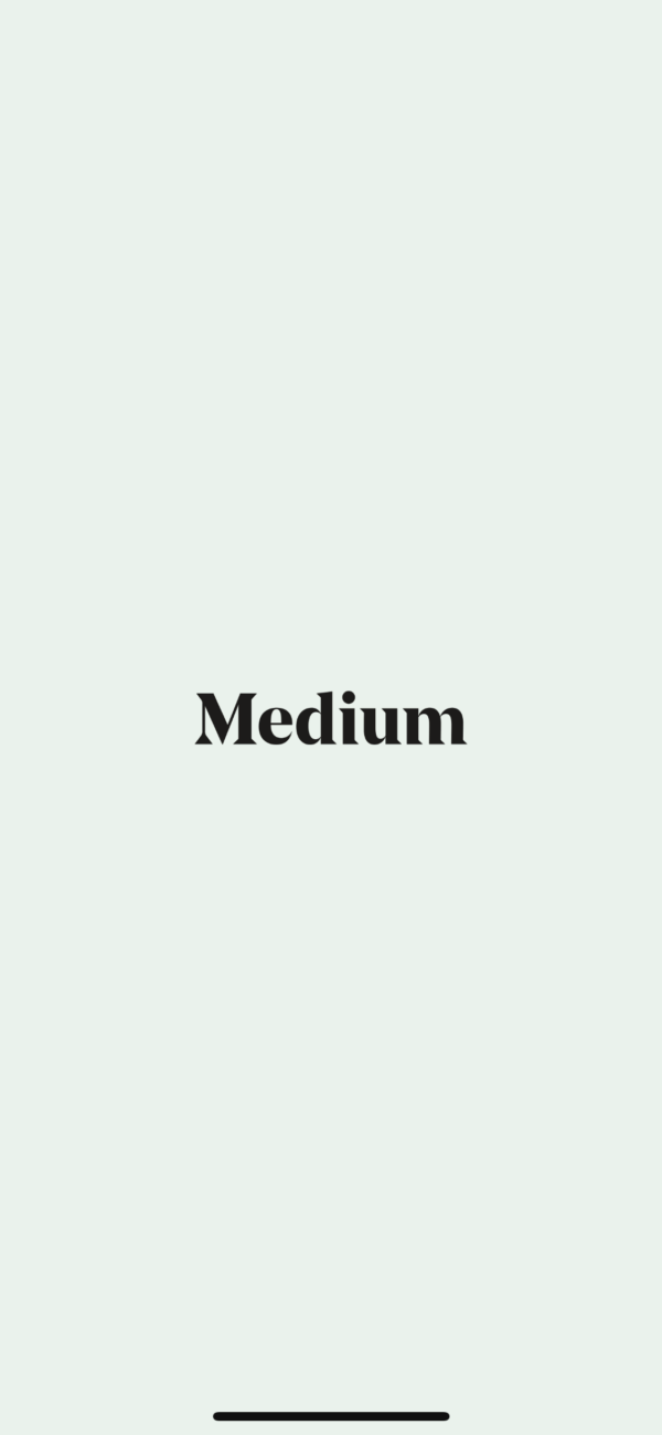 Medium Splash screen screenshot