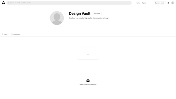 Unsplash Profile screenshot