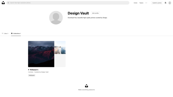 Unsplash Collections screenshot