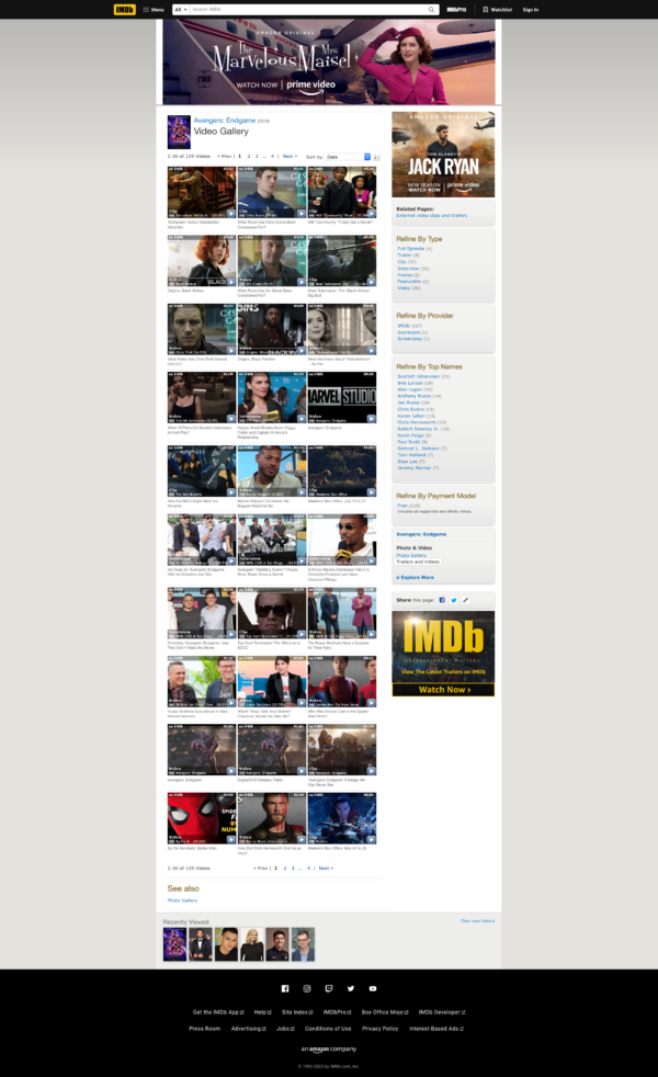 IMDB Video gallery screenshot