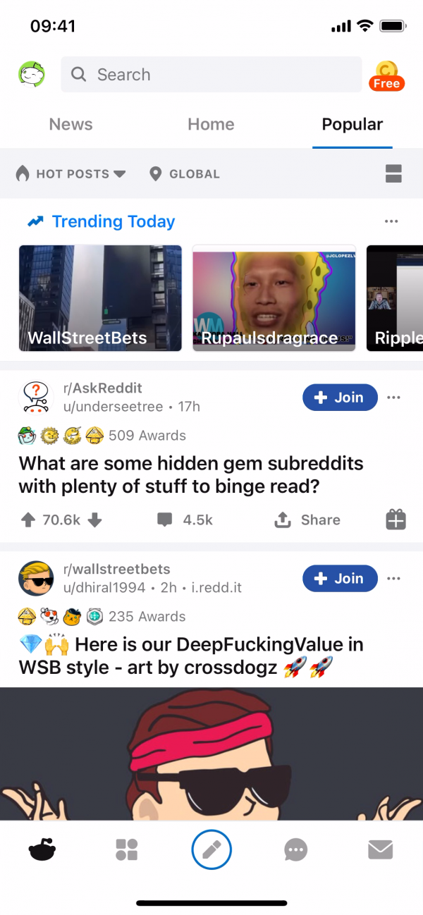 Reddit Popular screenshot