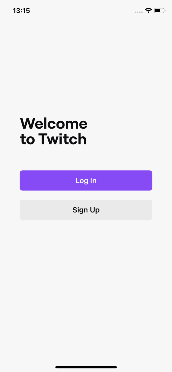 Twitch Welcome to Twitch screenshot