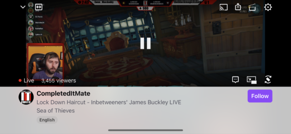 Twitch Video / Live stream screenshot