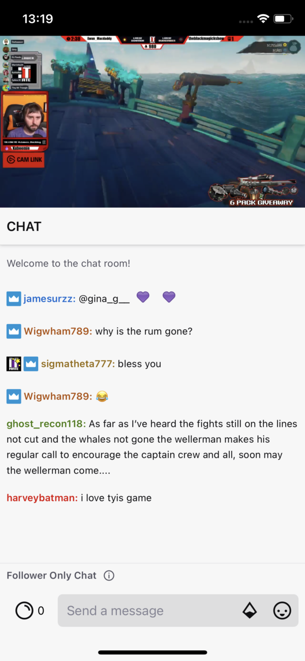 Twitch Chat & Live stream screenshot
