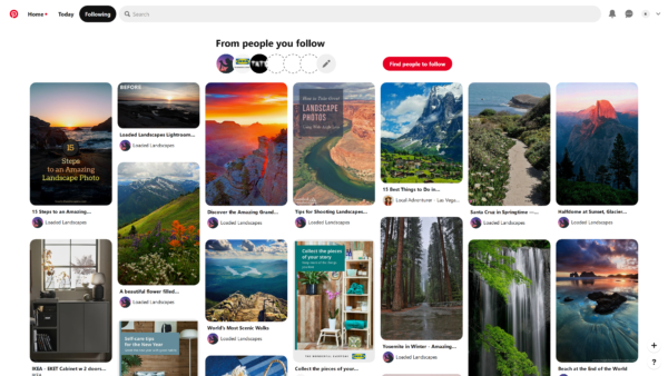Pinterest From people you follow screenshot