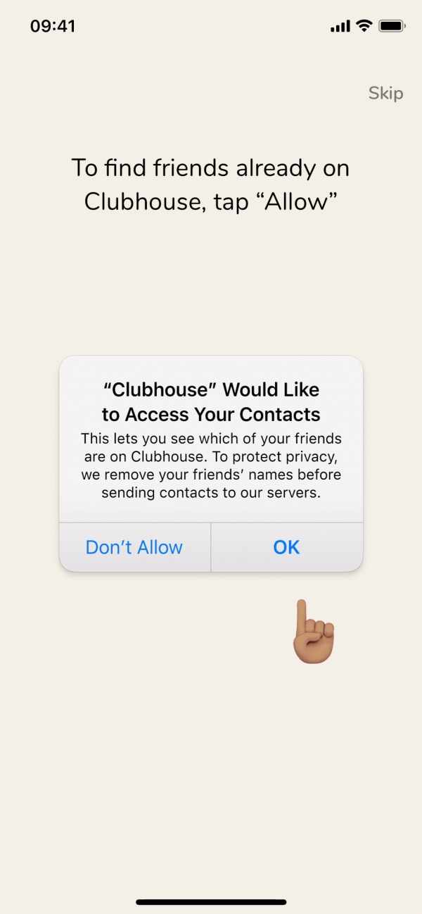 Clubhouse To find friends… screenshot