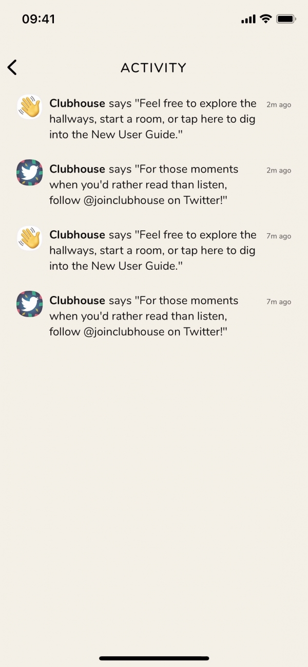 Clubhouse Activity screenshot
