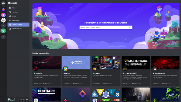 Discord Discover screenshot