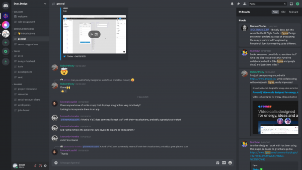Discord Search results screenshot