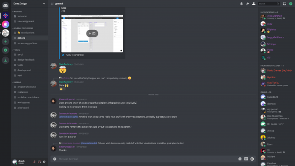 Discord Channel view screenshot